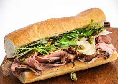 Medium Rare Roast Beef Sandwich - Corporate Cold Lunch