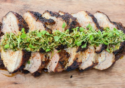 Harissa Roasted Pork Loin - Buffet/Family Style Menu