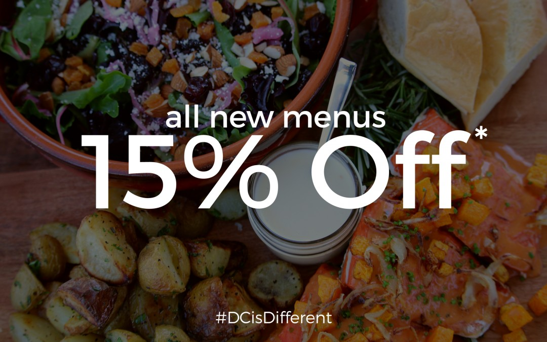 New Menus are LIVE! 15% Off All Lunch Packages in April